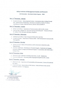 UG 2020 Orientation